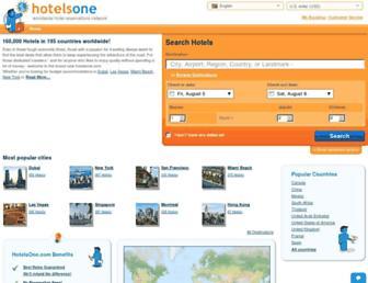 hotelsone.com screenshot