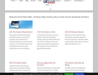 Main page screenshot of christianweb.org.uk