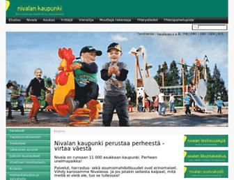 Main page screenshot of nivala.fi