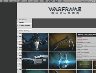 warframe-builder.com screenshot