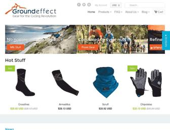 Main page screenshot of groundeffect.co.nz