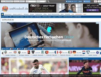 Main page screenshot of weltfussball.de