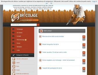 Main page screenshot of bricolageonline.net