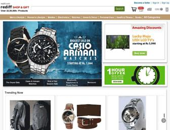 shopping.rediff.com screenshot