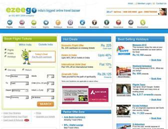 Main page screenshot of ezeego1.co.in