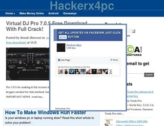 hackerx4pc.blogspot.com screenshot