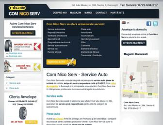 Main page screenshot of comnicoserv.ro