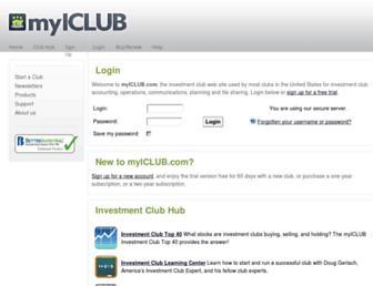 myiclub.com screenshot
