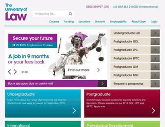 Thumbshot of Law.ac.uk