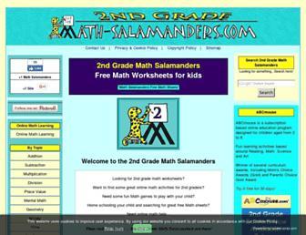2nd-grade-math-salamanders.com screenshot