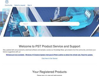 support.pstnet.com screenshot