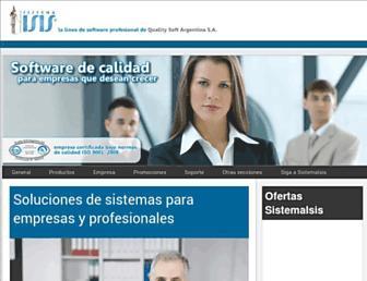 sistemaisis.com screenshot