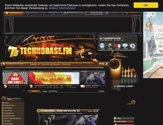 Main page screenshot of technobase.fm