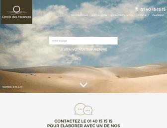 cercledesvacances.com screenshot