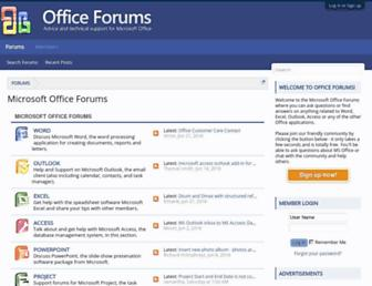 Thumbshot of Office-forums.com