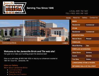 janesvillebrick.com screenshot
