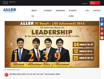 Thumbshot of Allen.ac.in