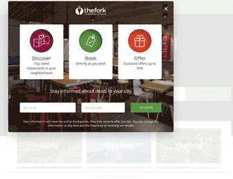 thefork.com screenshot