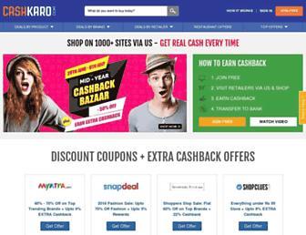 Thumbshot of Cashkaro.com
