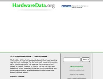 hardwaredata.org screenshot