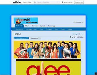 it.glee.wikia.com screenshot