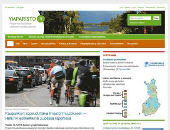 Main page screenshot of ymparisto.fi