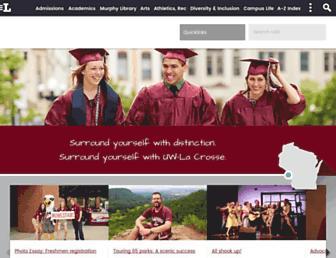 Main page screenshot of uwlax.edu