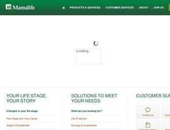 manulife.com.my screenshot