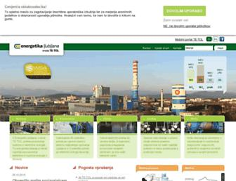 Main page screenshot of te-tol.si