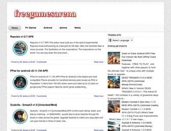 freegamesarena.blogspot.com screenshot