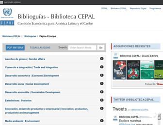 biblioguias.cepal.org screenshot