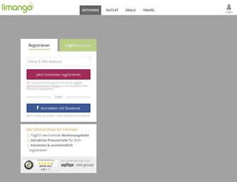 Main page screenshot of limango.de