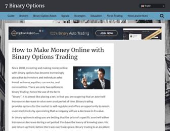 7binaryoptions.com screenshot