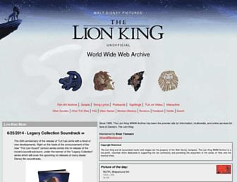 Thumbshot of Lionking.org