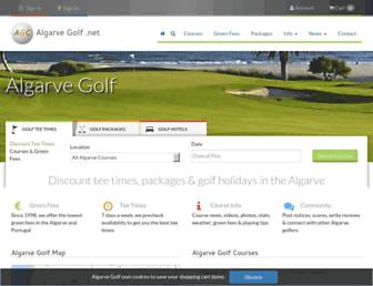 Main page screenshot of algarvegolf.net