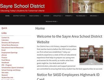 sayresd.org screenshot