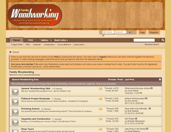 Main page screenshot of familywoodworking.org