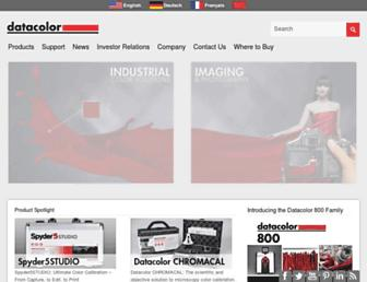 datacolor.com screenshot