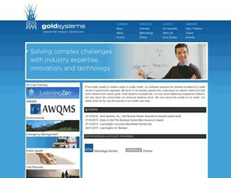 goldsystems.com screenshot