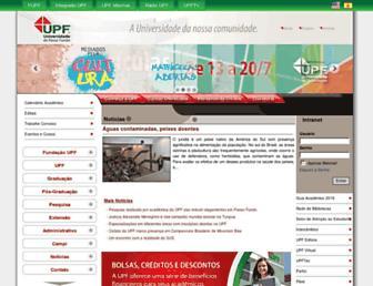 Main page screenshot of upf.br