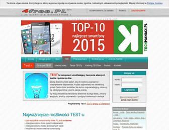 Main page screenshot of test.4free.pl
