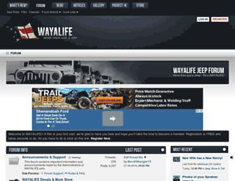 wayalife.com screenshot