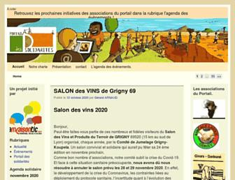Main page screenshot of portailsolidarites.fr