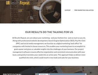 resultsrepeat.com screenshot