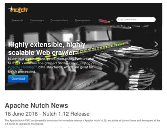 nutch.apache.org screenshot