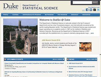 stat.duke.edu screenshot