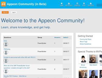 community.appeon.com screenshot
