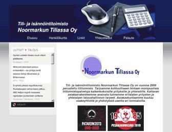 Main page screenshot of tiliassa.fi