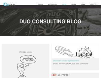 thoughts.duoconsulting.com screenshot