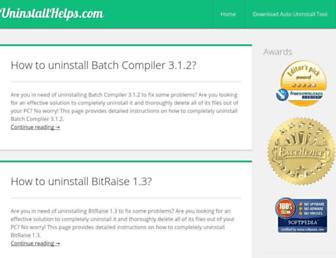 uninstallhelps.com screenshot